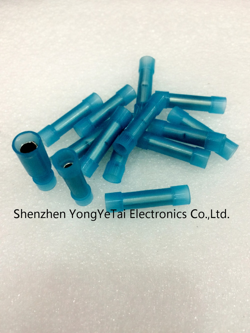 BHT shrinkable tube connecting intermediate wire waterproof connector Cold terminals blue free shipping(China (Mainland))