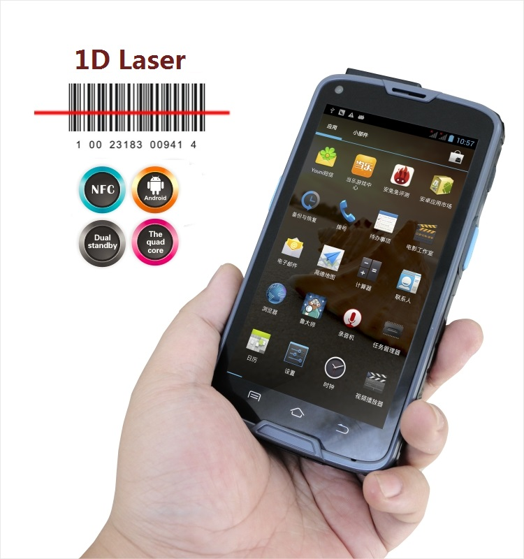 LS5S(1D) Black Rugged Industrial Handheld Terminal PDA Android 1D Barcode Scanner with NFC Reader,WIFI,4G,GPS(Hong Kong)