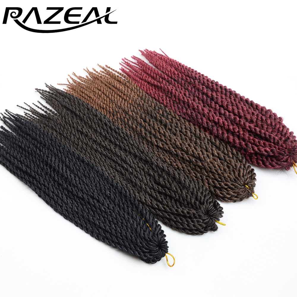 Razeal Micro Crochet Braids 14 inch Senegalese Twist Hair Extension For Kids Teenagers Synthetic Braiding Hair High Temperature(China (Mainland))