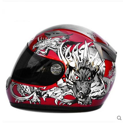 Famous Brand AD Pattern Skeleton Cascos Para Moto Dragon LOgo ABS Full Face Motorcycle Helmet 3 Lens Black Casque Motocross(China (Mainland))