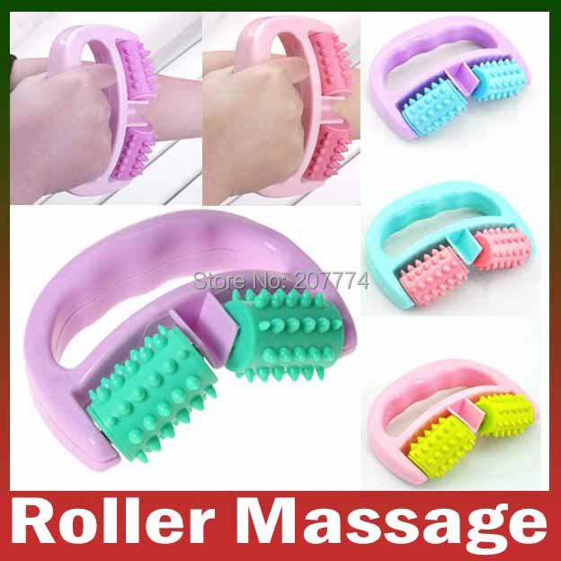 Retail&Wholesale Body embossing roller massage Shoulder leg Health care beauty slim Slimming massager Hand-held Wheel free(China (Mainland))