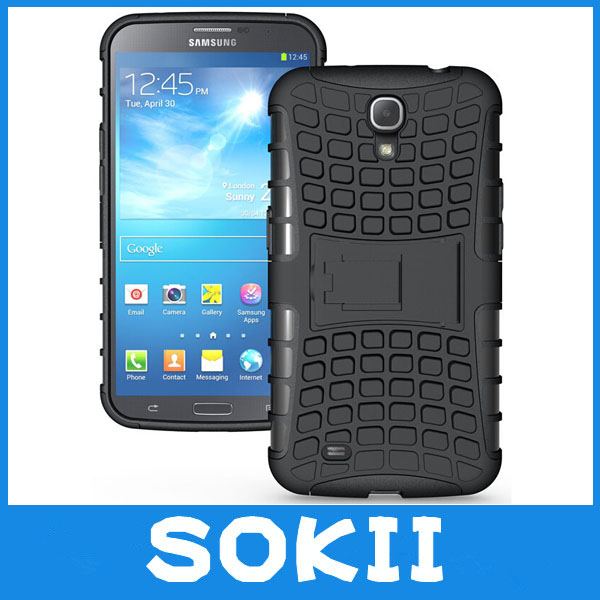 Armor Heavy Duty Hard Cover Combo Case For Samsung Galaxy Mega 6.3 i9200 Silicone Protective Skin Double Color Shock Proof(China (Mainland))