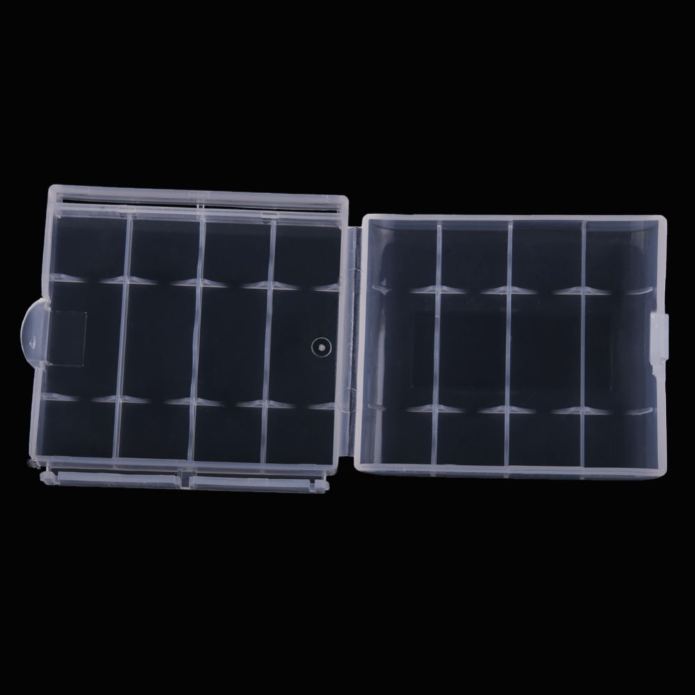 ONLY 10X Hard Plastic Case Holder Storage Box For AA AAA Battery