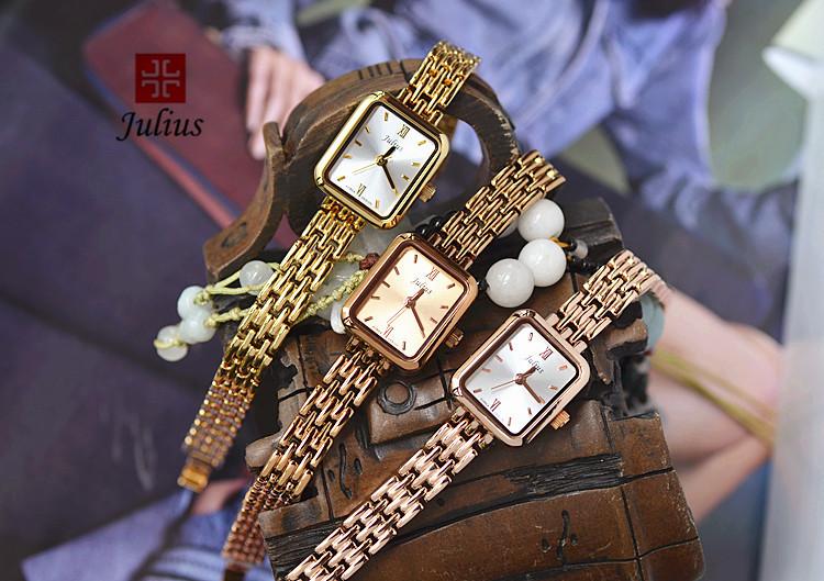Женские Часы Юлий Кварца Япония Мини Часы Часы Тонкой Моды Платье Браслет Простой Именинница Рождественский Подарок Коробка 771