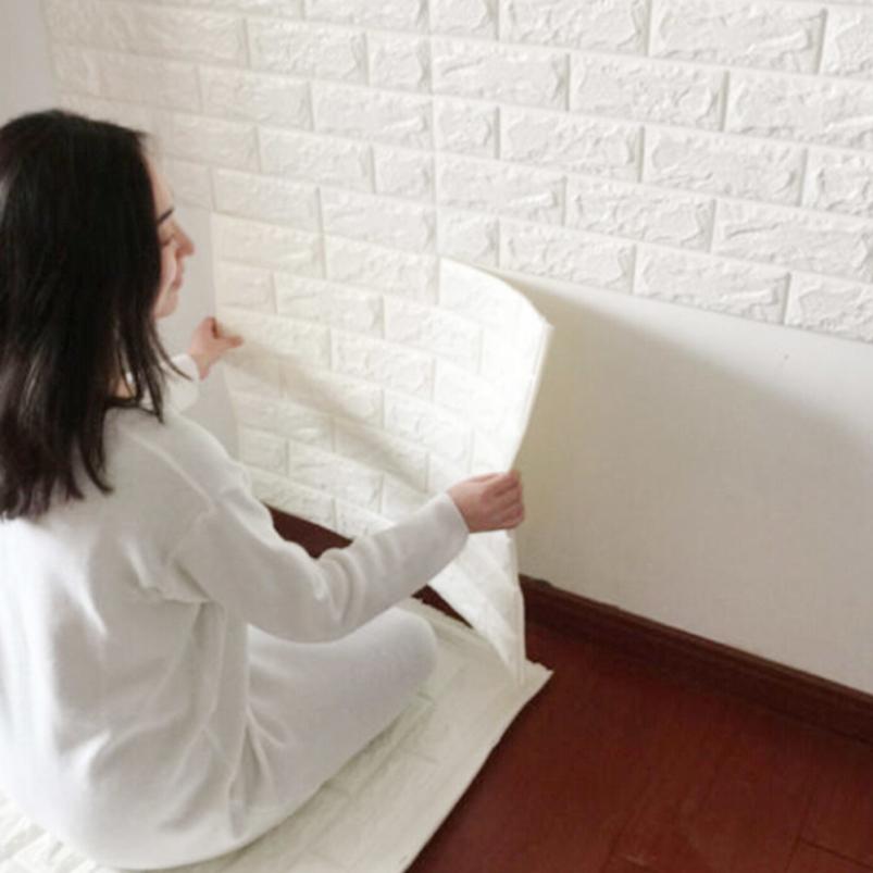 3D Brick Pattern Three-dimensional Wall Stickers Home Decor Living Rooms Modern Pvc Patterns Vinyl Wall Diy Bedroom Mural Art(China (Mainland))