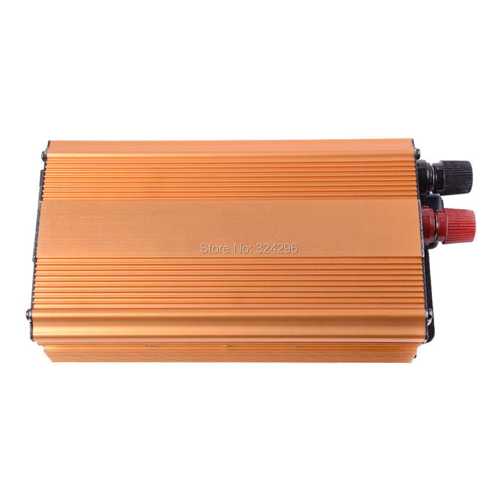HOT-A1-00016 1000W Car Vehicle USB DC 48V to AC 220V Power Inverter Adapter Converter - Gold(China (Mainland))