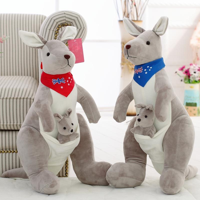 New Style Cute Kangaroo Plush Toy Cloth Doll Dolls Mother And Son Mouse Large kangaroo doll Birthday Gift(China (Mainland))