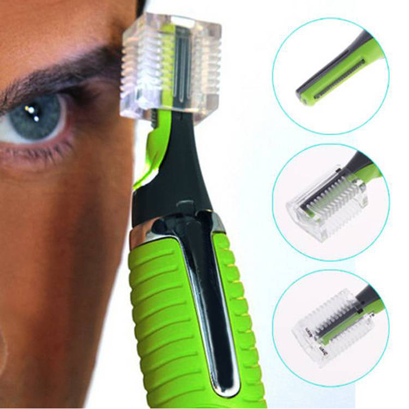 1pcs Personal Face Care Stainless Steel Nose Hair Trimmer Removal Clipper Shaver w/ LED Light for Men and Women(China (Mainland))