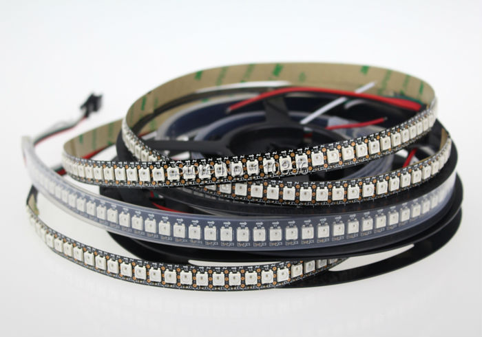 individually addressable 1m ws2812 ws2812b 144 pixel/m digital ws2811 rgb led strip black/white pcb waterproof IP30 IP67(China (Mainland))