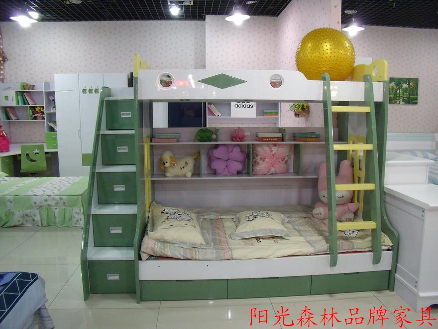 Professional children's bedroom furniture bunk bed bed capacity level of picture- drawer cabinet bookshelf ladder(China (Mainland))