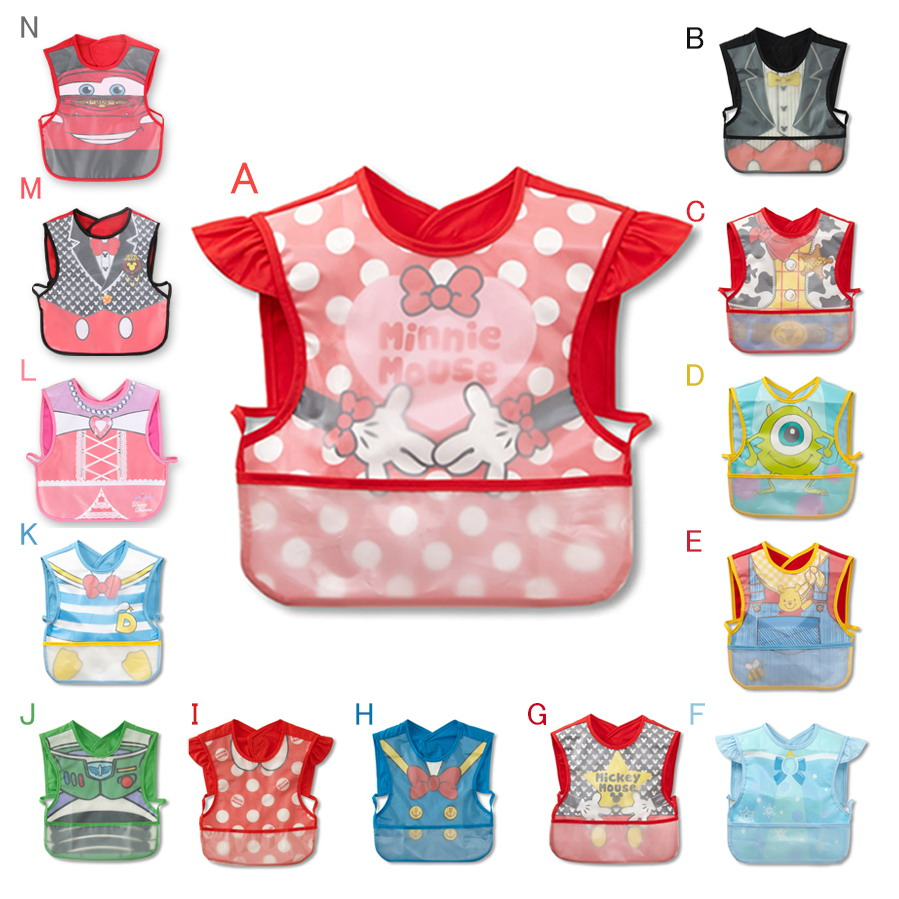 New Design Waterproof Baby Bibs New Style Cartoon Lovely Bib Apron Infant Bib Clothing For Lunch Practical Baby Bib Baberos(China (Mainland))
