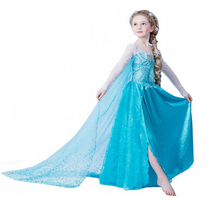 2016new font b girl b font dress Elsa Dress Custom Cosplay Summer Anna font b Girl