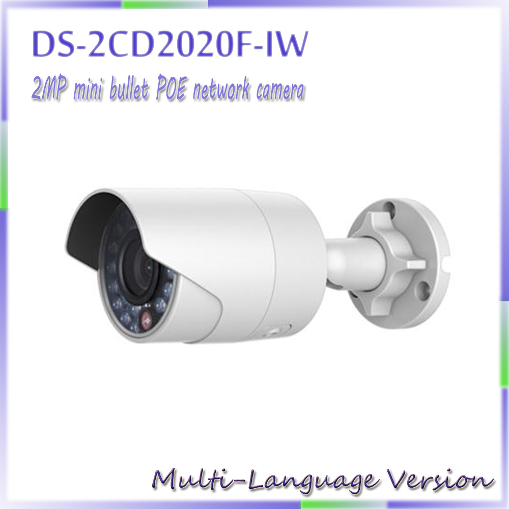 Multi-language version DS-2CD2020F-IW 2MP IR Bullet Network Camera Built-in Micro SD/SDHC/SDXC card slot, up to 128G(China (Mainland))