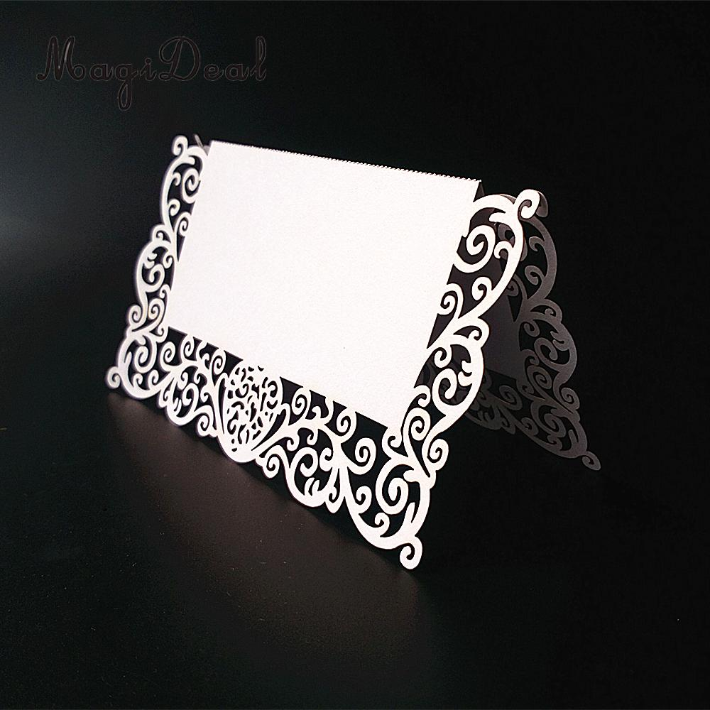 MagioDeal Brand New 25Pcs Table Name Number Place Card With Simple & Good-Looking Color for Wedding Party Invitation Favor White