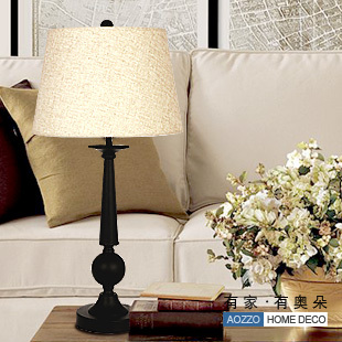 Fashion vintage brief wrought iron table lamp bedroom lamp study light ofhead lamps 30014 e