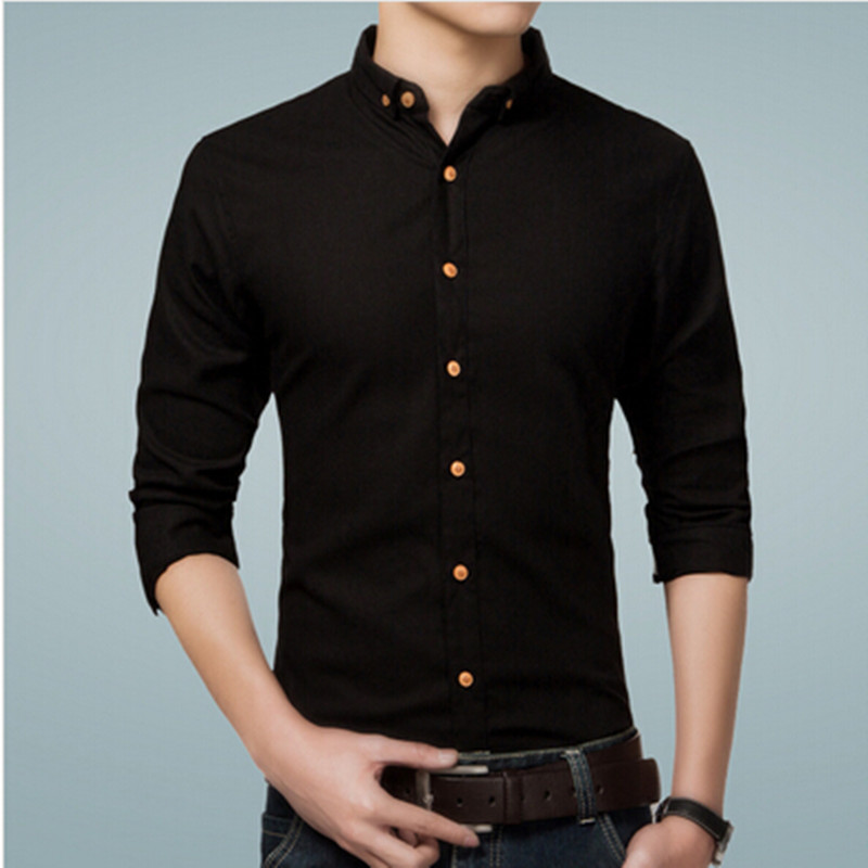 Online Get Cheap Black Casual Shirt for Man -Aliexpress.com ...