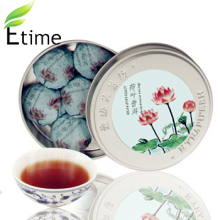 puer tea New Arrival Top Quality Mini Box Compressed Tea Chinese Authentic puer Lotus Leaf Fragrance 1box=7pieces tea BKTH002