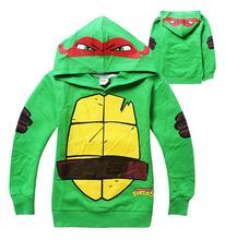 New Teenage Mutant Ninja Turtles Green Hoodies Outfit Coat Sweatshirt Casual Children Hoody For Kids Children ES-002(China (Mainland))