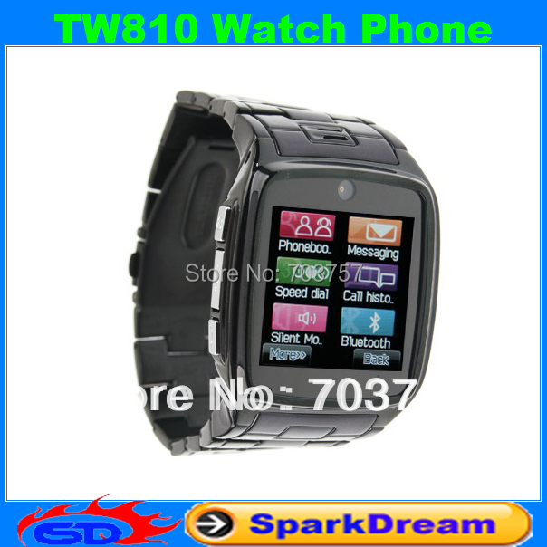 TW810 Watch Phone With Quad Band Single Card Single Standby Single Camera Bluetooth Java GPRS 1.5inch Touch Screen Watch Phone(China (Mainland))