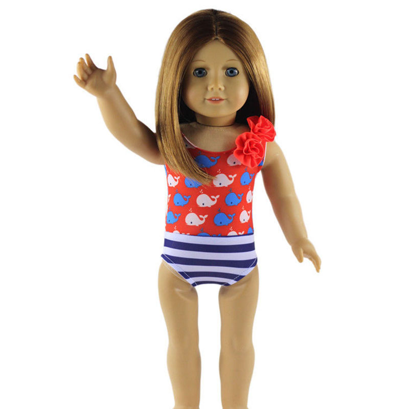 2016 Doll Clothes Summer Swimming Suit for American Girl Dolls 18inch Doll Cloth Children Best Gift(China (Mainland))