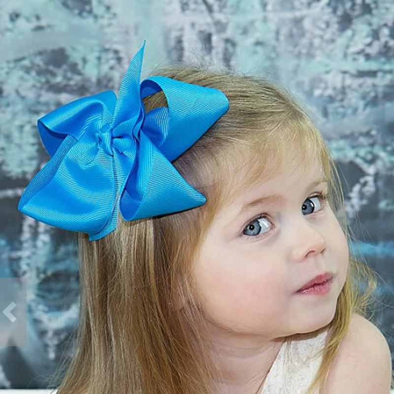 Summer Style Hair Bows Big Grosgrain Ribbon Hair Bow With Clip Girls Jumbo Bows Baby Hair Accessories 30 Colors In Stock(China (Mainland))