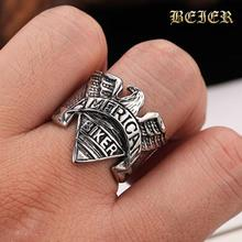 American Biker Eagle Ring Stainless Steel Punk Biker Motorcycle Freedom Eagle Ring Jewelry BR7002 US size