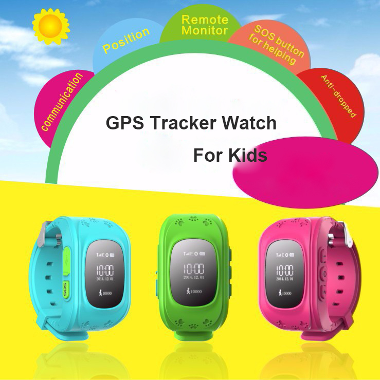 HQ Anti Lost GPS Tracker Watch For Kids SOS Emergency GSM Smart Mobile Phone App For IOS & Android Smartwatch Wristband Alarm