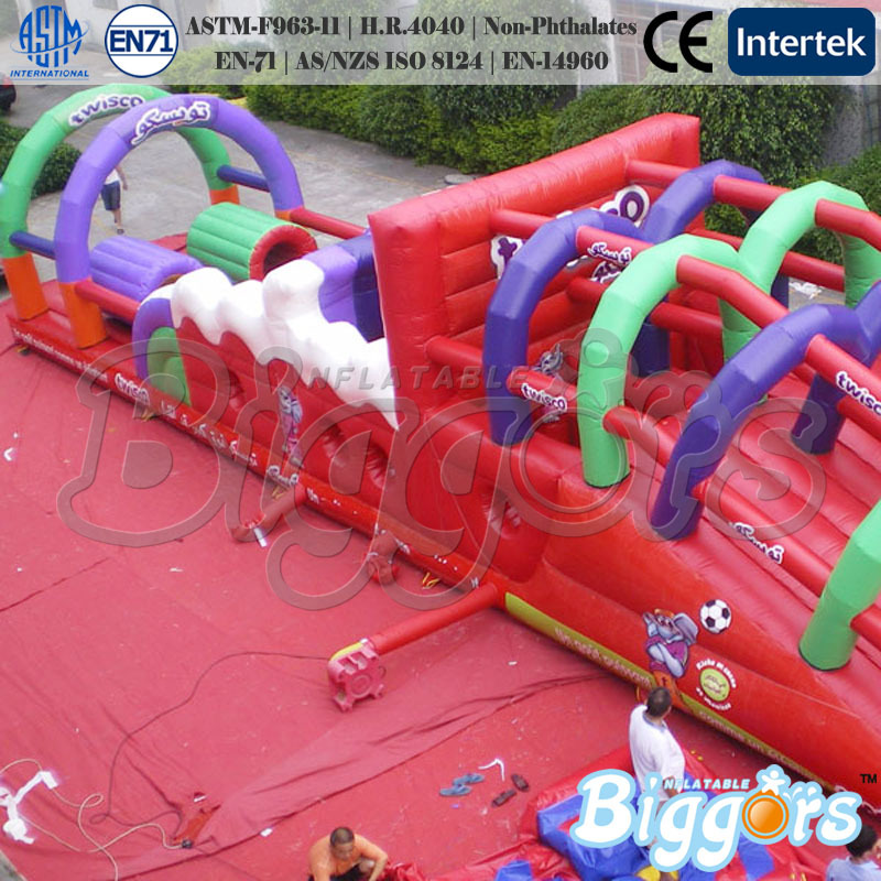 Certificate EN-71&EN-14960, Inflatable Obstacle Course Jumping Slide,Inflatable Bouncers(China (Mainland))