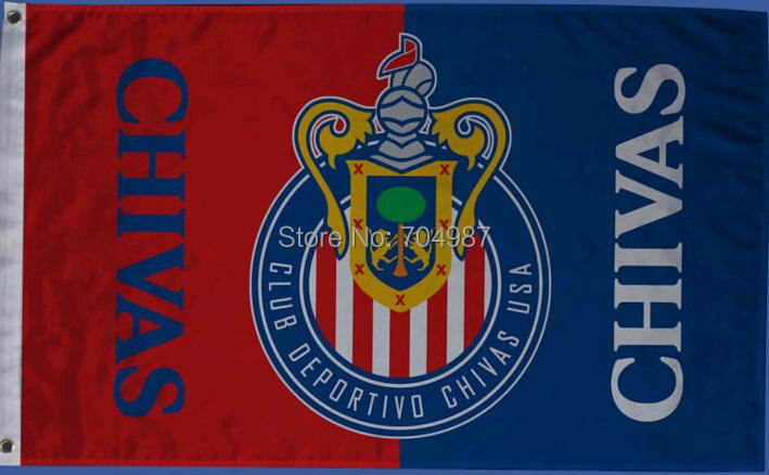 150 x 90 cm MLS Chivas USA soccer flag banner free shipping(China (Mainland))