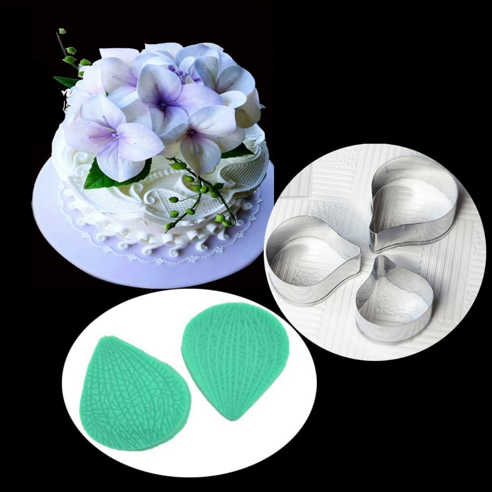 Cake Decorating Sugarcraft Moulds : Fondant Sugarcraft Mould RoHydrangea Flower Petal Silicone ...