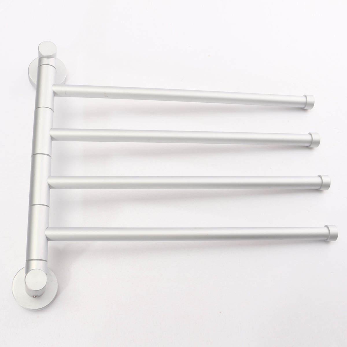 4 Swivel Bars Bathroom Aluminium Wall Towel Rack Holder Polished Hardware Storage Shelf Hotel Home Bathroom Decor Wholesale(China (Mainland))