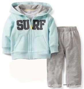 2016 original baby boys sport suits jacket + pant 2 pcs baby alphabet clothes set children sweatshirts retail(China (Mainland))