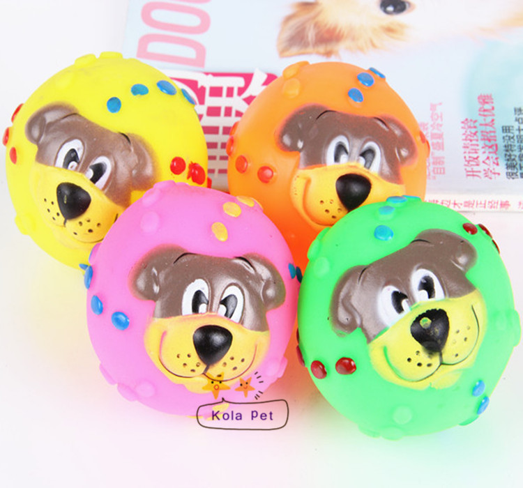 Hot selling Rubber pet chew toys, can make sound, ball shape pet screaming toys(China (Mainland))