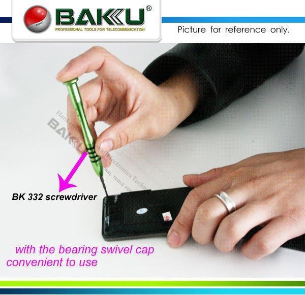 Titanium Steel Handle,Bearing Swivel Cap Pentalobe 0.8x25mm Screwdriver, special for iPhone 4/4s/5.Brand BAKU,BK-332(China (Mainland))