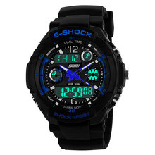 Skm-0931 relojes digitales del deporte de hombre reloj Two Time Zone cronógrafo de cuarzo reloj exterior 30 M impermeable
