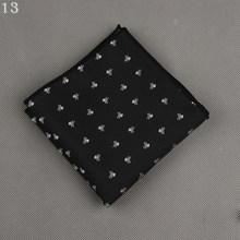 Mode soie à pois rayé noeud papillon pour hommes Skinny Slim Polyester cou cravates affaires poche carré poitrine serviette mouchoir(China)