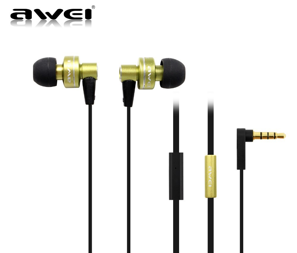 Genuine Awei ES900i In Ear Earphone for Iphone IPOD Samsung HTC Xiaomi Clear Bass with Mic