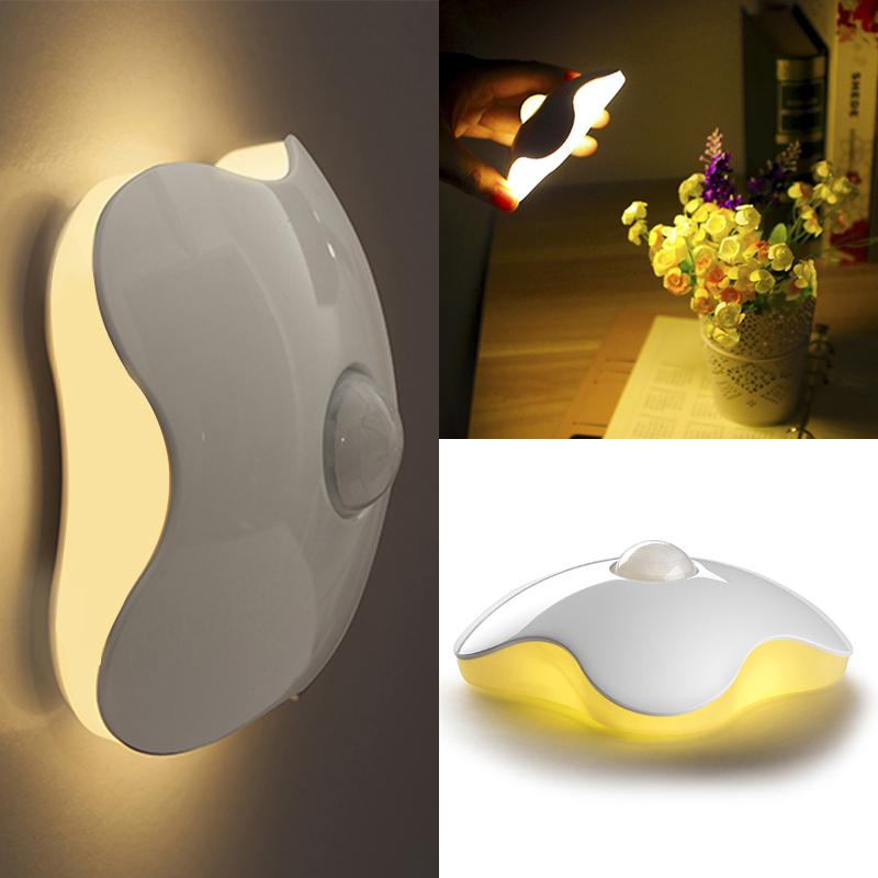 Гаджет  2015 New Cretive Design Wall Lamp Mini LED Human Sensor Night Lights Human Body Auto Motion Light Sensor Induction Lamp None Свет и освещение