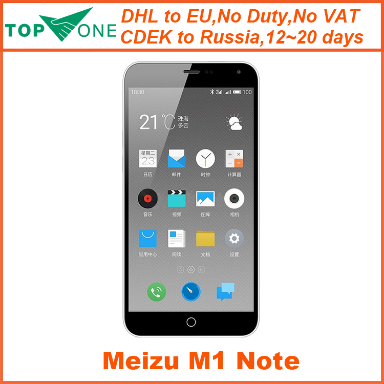 "Original Meizu M1 Note meizu Noblue 4G FDD LTE 5.5"" MTK6752 Octa Core 1920x1080 2GB ROM 16GB FDD 13.0MP Camera mobile phone(China (Mainland))"