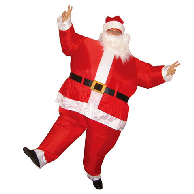 2 Meters Inflatable Santa Claus Christmas Toy Large Cosplay With Moustache Holiday Photo Props Adult Inflating Toys TD0052(China (Mainland))
