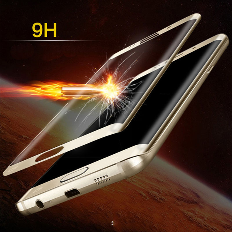 full 3d curved tempered glass film for samsung galaxy s6 edge s 6 g925 by 2.5d 9h front protective screen protector protection(China (Mainland))