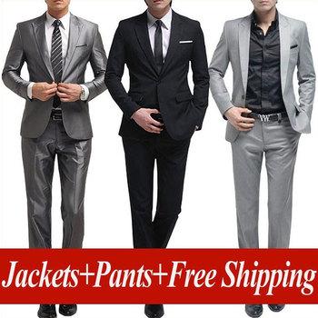 Free shipping men's brand suit Set New style groom business suits men wedding Dress Suit sets,jackets + pants size:S-XXXL MTS135