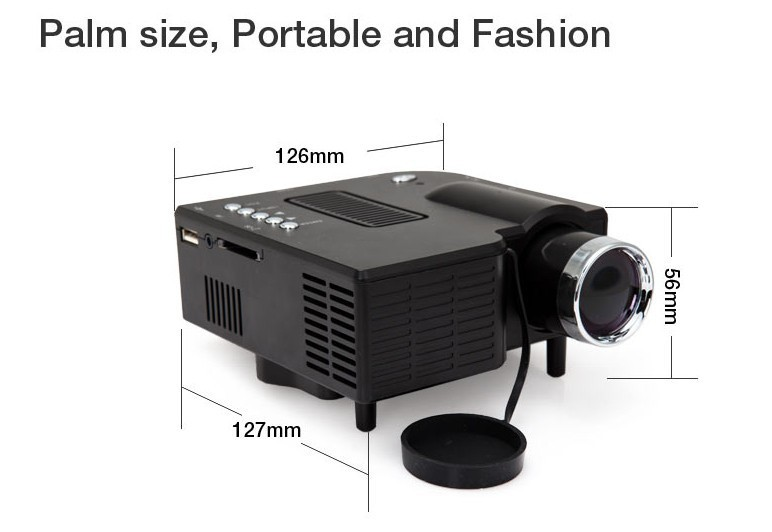 Airmail free digital projector with hdmi mini micro av led for Micro video projector