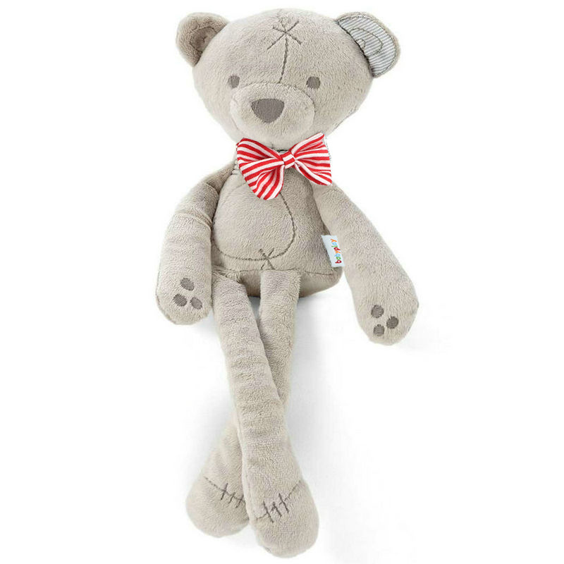 2016 baby toys 42cm height grey color baby bear doll kids sleeping comfort plush toys children lovely gift TLX-001(China (Mainland))
