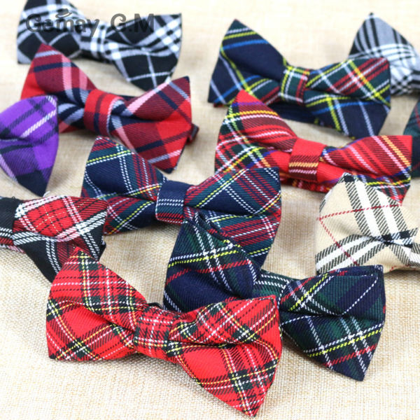 New Men Fashion Classic Plaid Bowtie Neckwear Adjustable Mens Bow Tie Polyester for wedding england style ties(China (Mainland))