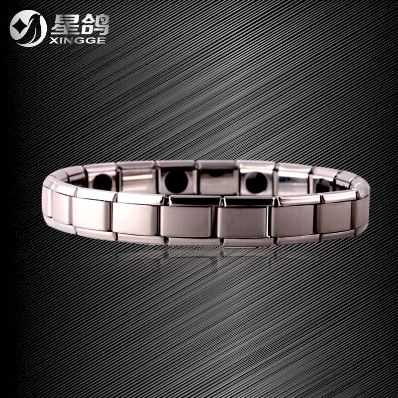 Wholesale Jewelry Western Style Retro Stainless Steel Health Care Magnet Charm Love Women Bracelets & Bangles for Men