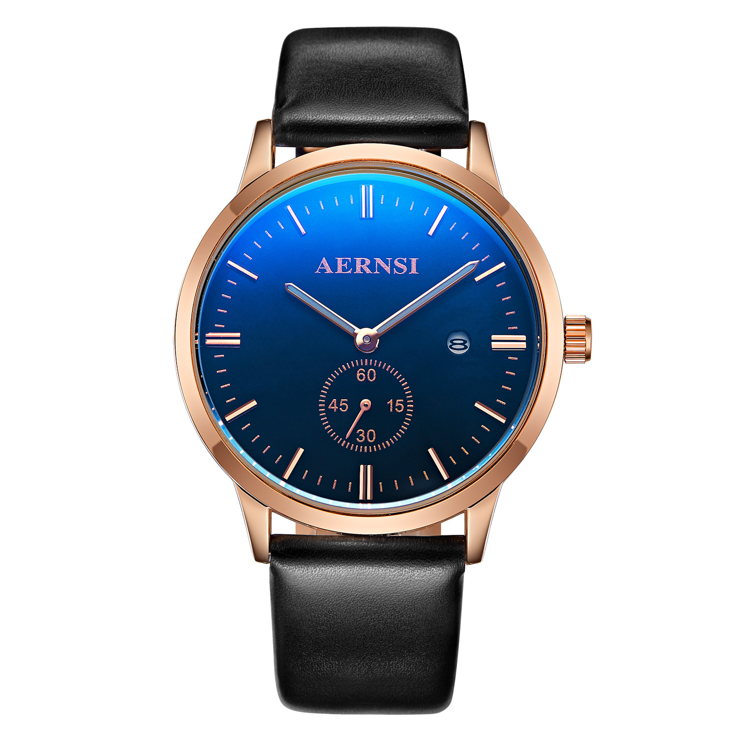 Genuine AERNSI genuine leather belt business fashion watch male student calendar man manufacturers wholesale FREE SHIPPING(China (Mainland))