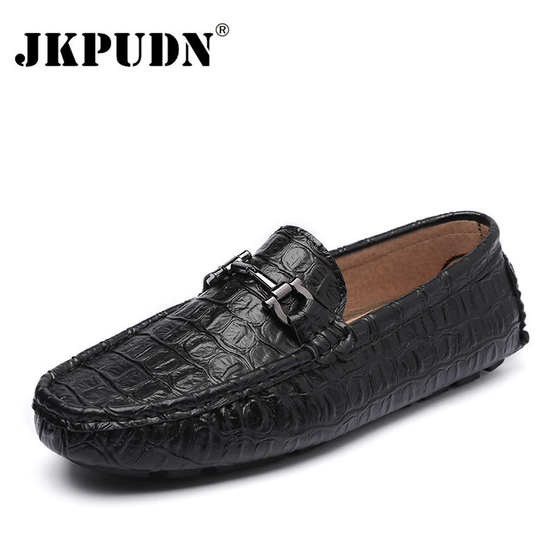 Crocodile Leather Men Loafers Moccasins Designer Italian Shoes Men Casual High Quality Breathable Zapatos For Men Flats Tenis(China (Mainland))