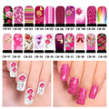 5pcs Bright Colors Nail Art Stickers Water Decals Full Cover Nail Decoration Wraps C8 series