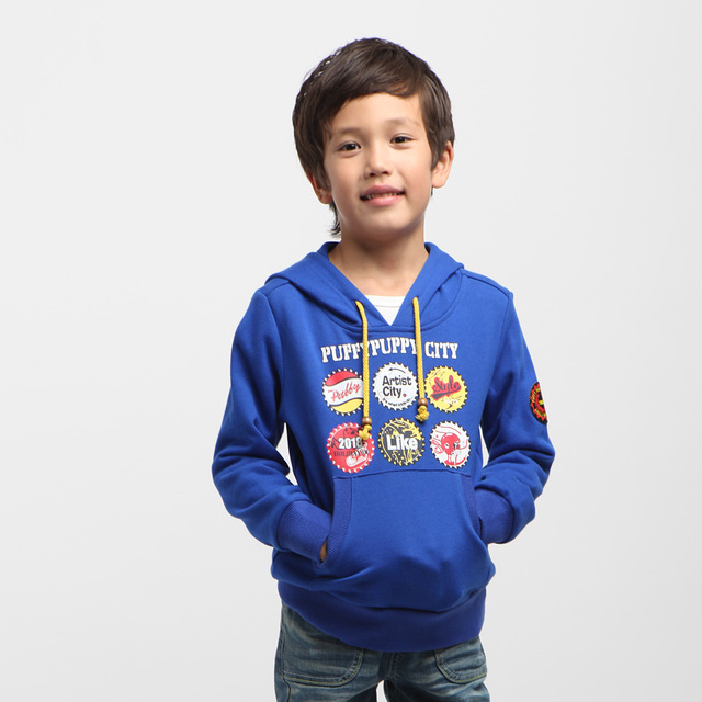 ok Freeshipping Spring Autumn blue gray green orange Children boy Kids baby cotton hoody hooded sweater coat outwear PEQZ09P27